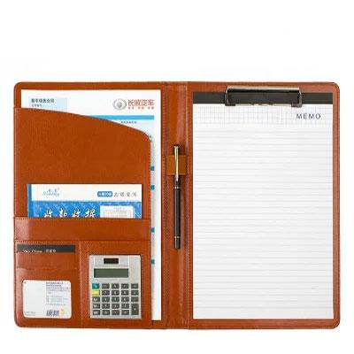 A4多功能文件夹皮质房产汽车经理夹销售夹合同夹