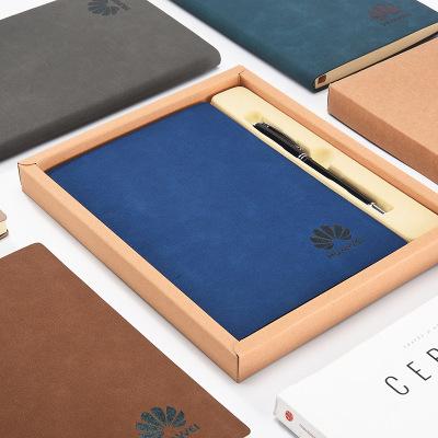 厂家直销32K高档PU商务笔记本套装a5记事本企业定制LOGO