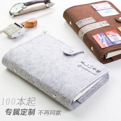 厂家定制毛毡笔记本 毛毡布旅行记事本 随身手帐笔记本便携日记本
